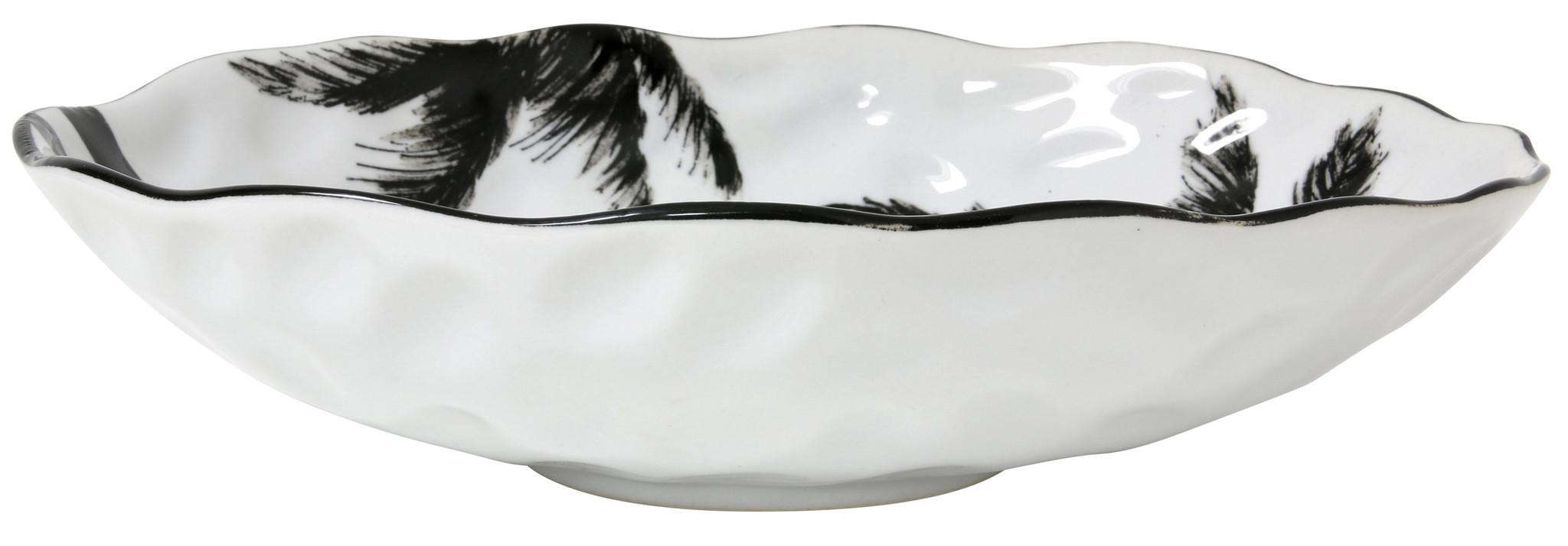Schaal bold&basic ceramics: porcelain serving bowl palms-3