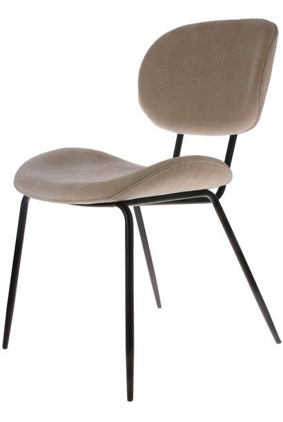 Stoel dining chair rib crème