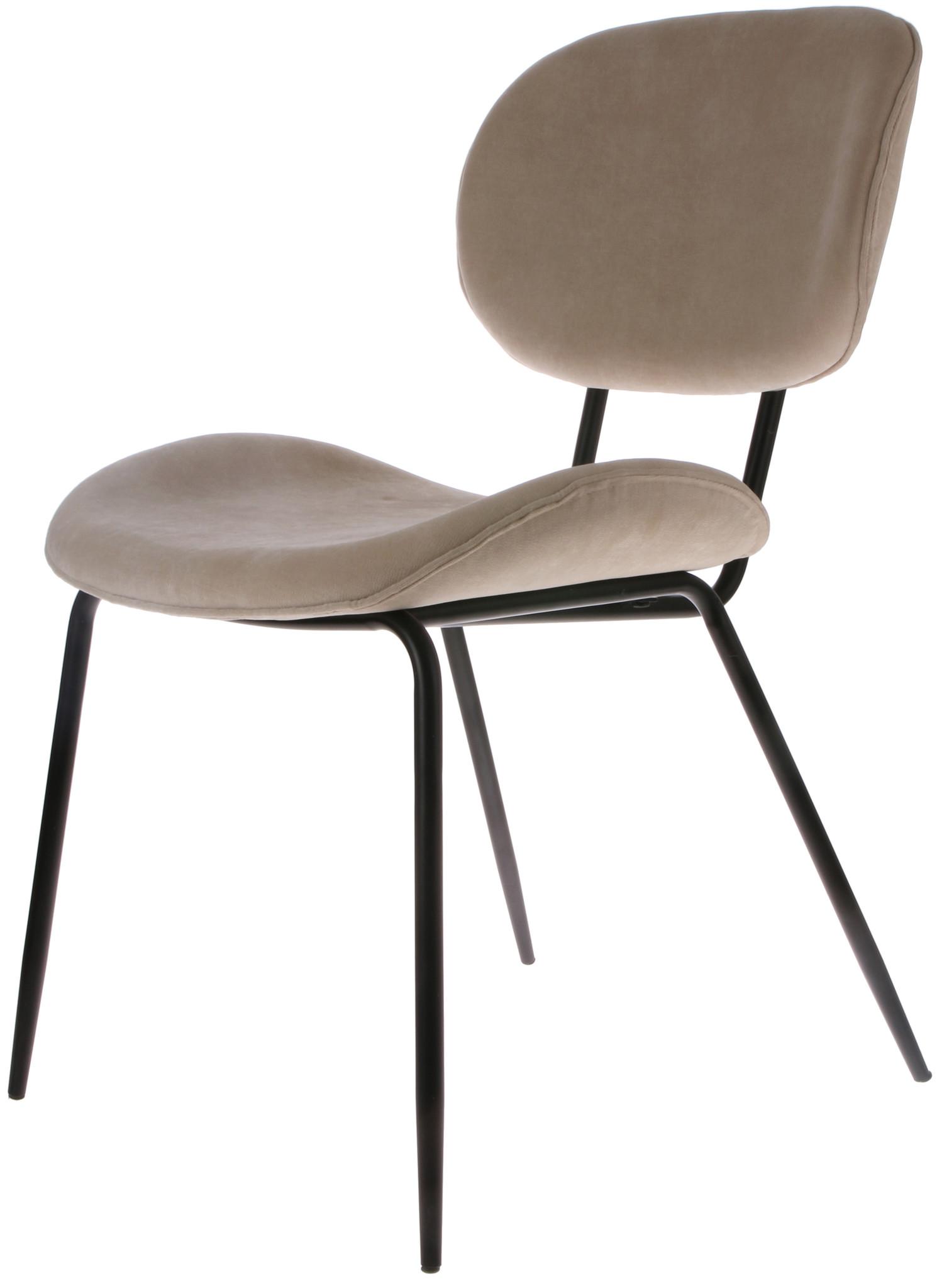 Stoel dining chair rib crème-1