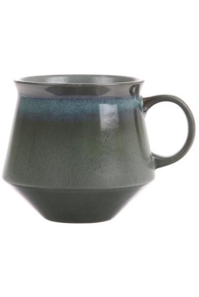 Theekop ceramic 70's XL Moss 14x11cmGreen
