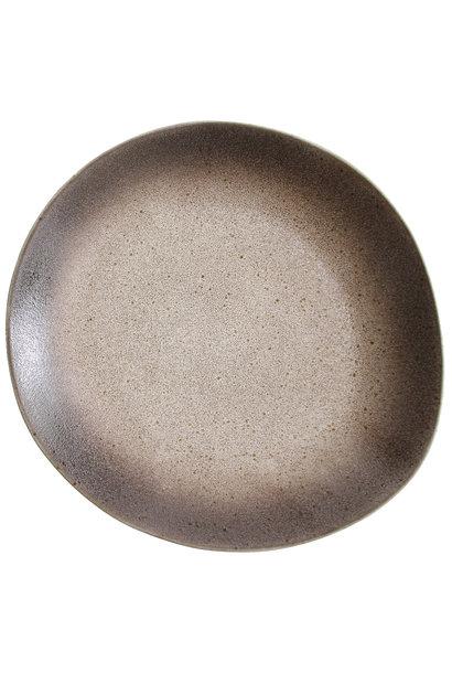 Bord dinner plate ceramic 70's Sand