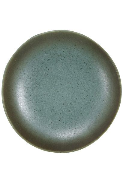 Bord dessert plate ceramic 70's moon