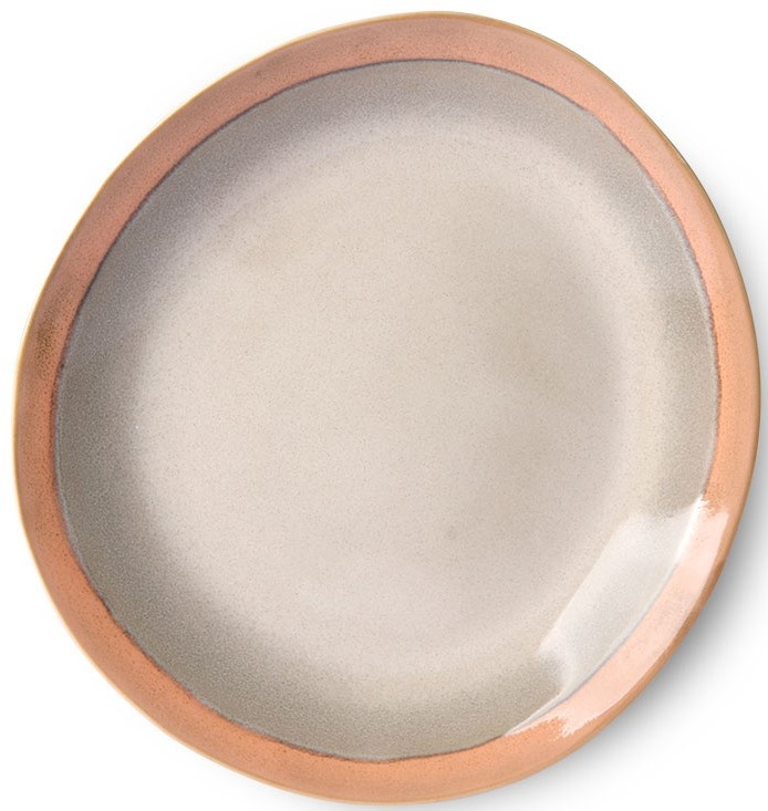 Bord side plate ceramic 70's earth-1