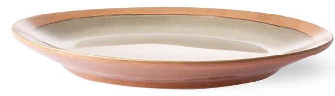 Bord side plate ceramic 70's earth-4