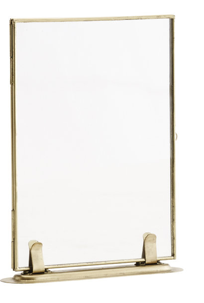 Fotolijst on stand brass 13x18cm