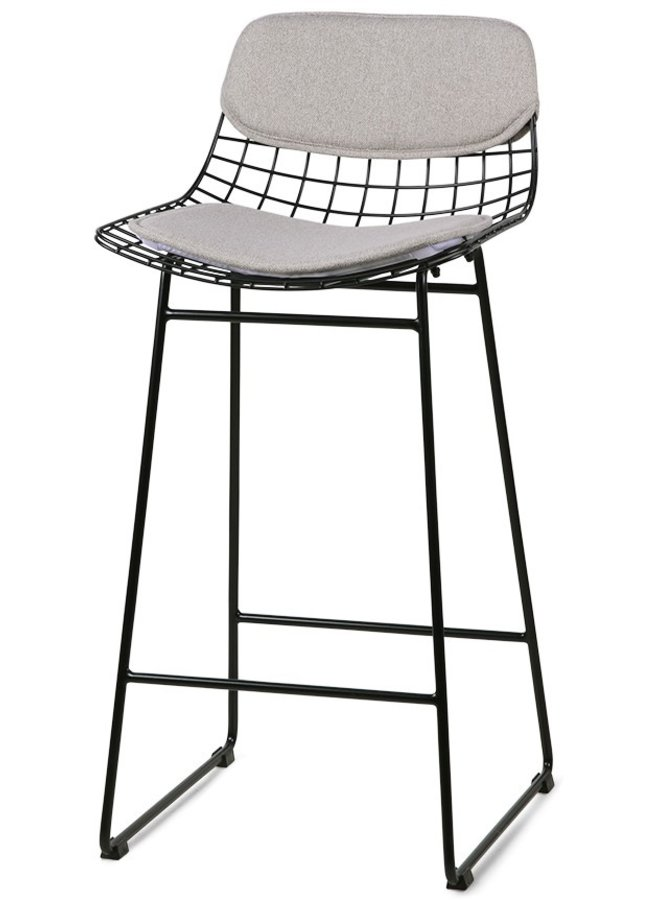 Kussens wire bar stool comfort kit pebble