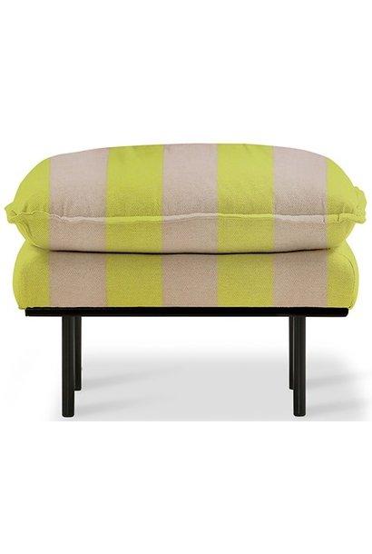 Hocker retro sofa: hocker striped, yellow/nude