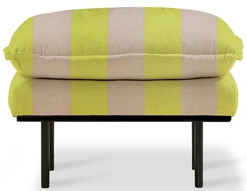 Hocker retro sofa: hocker striped, yellow/nude-1