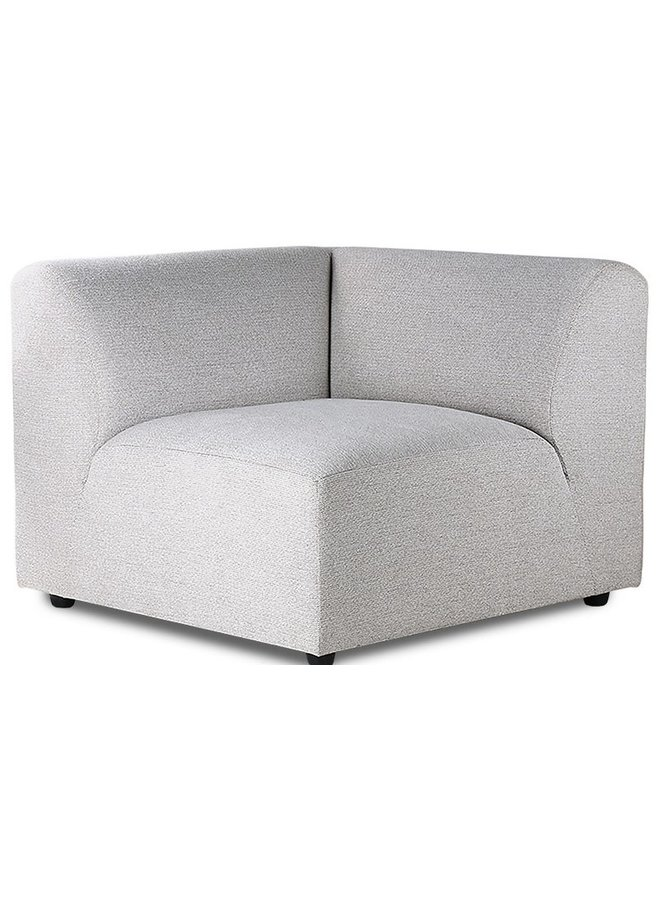 Bank jax couch: element right, sneak, light grey