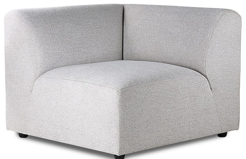 Bank jax couch: element right, sneak, light grey-1