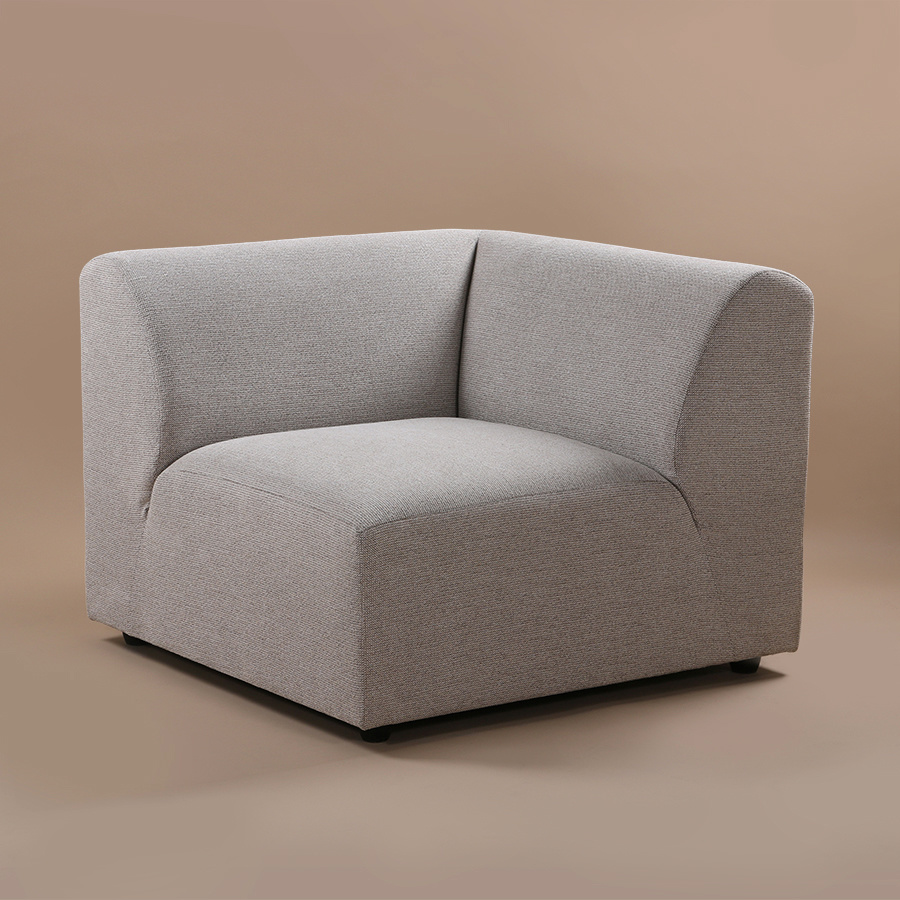 Bank jax couch: element right, sneak, light grey-2