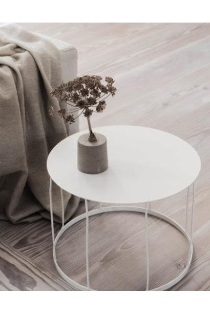 Salontafel H38-Ø50cm White