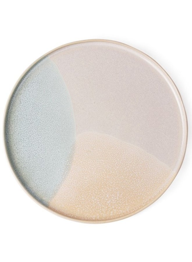 Bord gallery ceramics: round side plate mint/nude