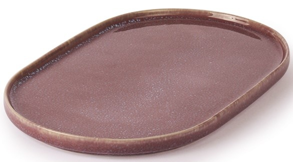 Bord gallery ceramics: oval side plate lilac-2