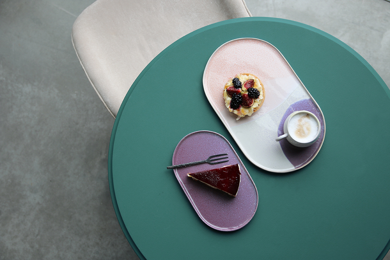 Bord gallery ceramics: oval side plate lilac-6