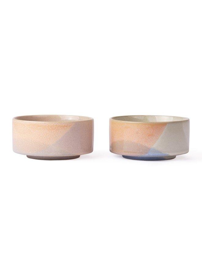 Schaal gallery ceramics: bowl blue/peach