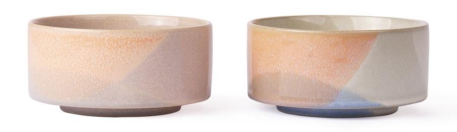 Schaal gallery ceramics: bowl blue/peach-2