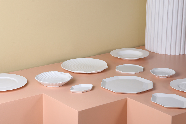 Serveer plank bone china shell-4