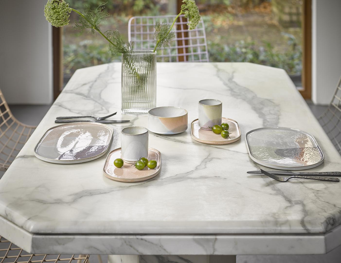 Bord gallery ceramics: oval side plate peach-2