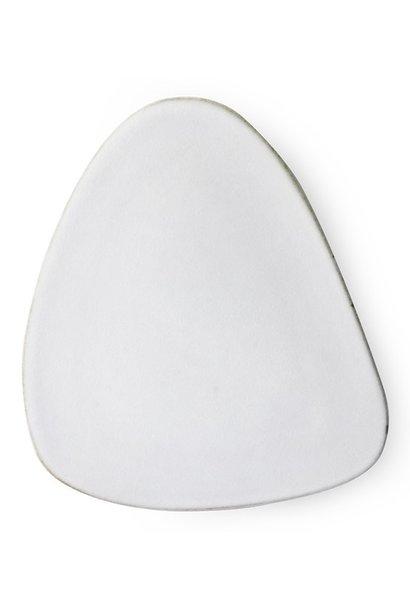 Bord ceramics triangle white