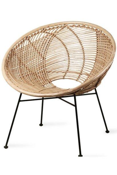 Stoel rattan ball lounge chair natural