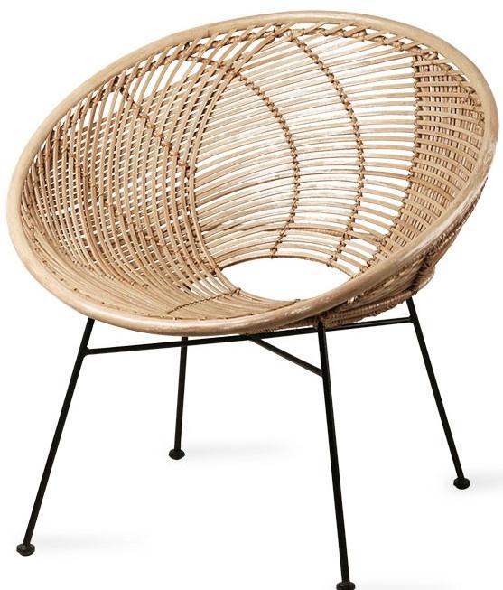 Stoel rattan ball lounge chair natural-1
