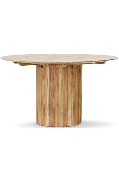 Tafel Pillar round teak