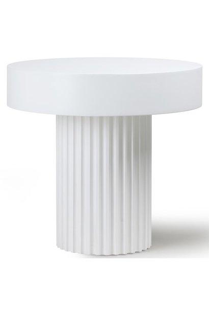 Tafel pillar coffee round white