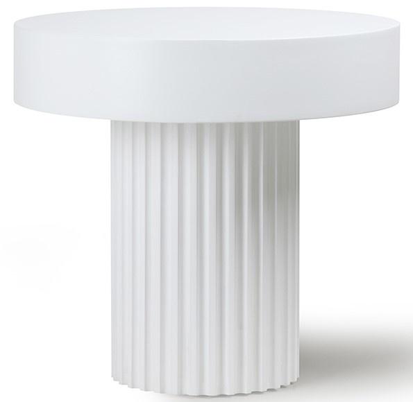Tafel pillar coffee round white-1