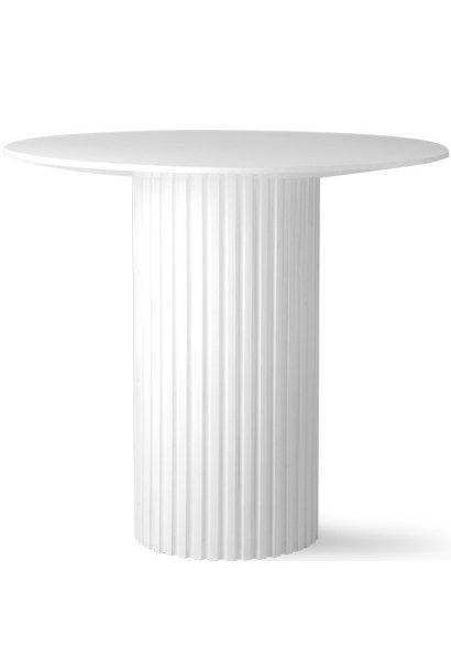 Tafel pillar side table round white