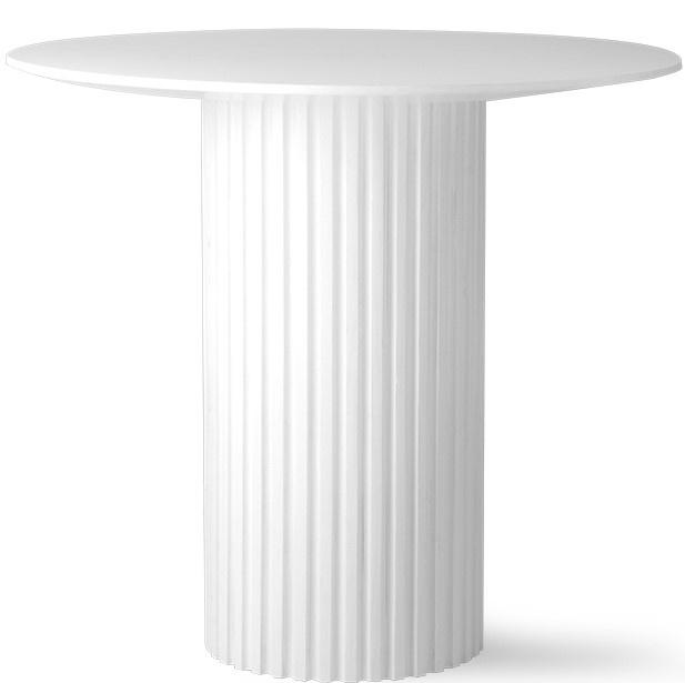 Tafel pillar side table round white-1