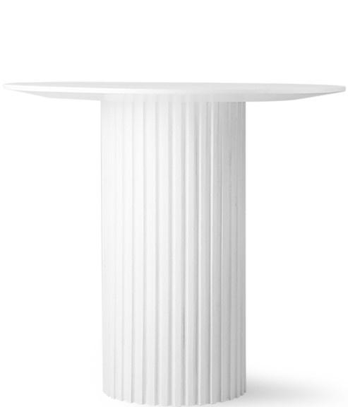 Tafel pillar side table round white-3