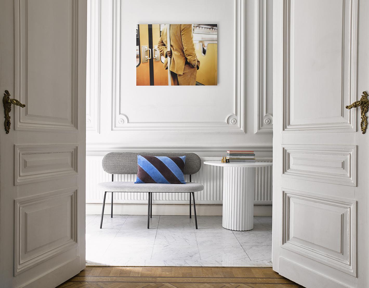 Tafel pillar side table round white-2