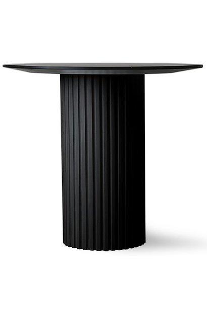 Tafel pillar side table round black