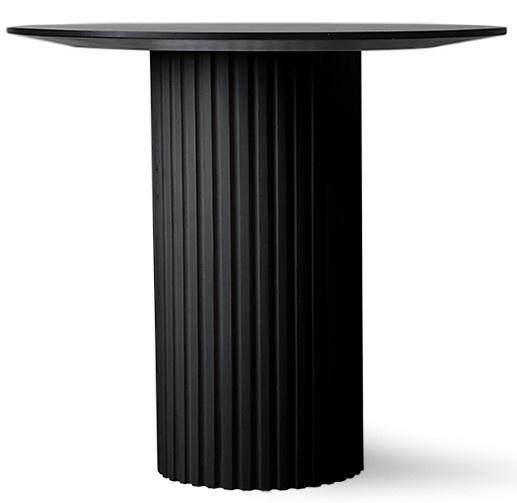 Tafel pillar side table round black-1