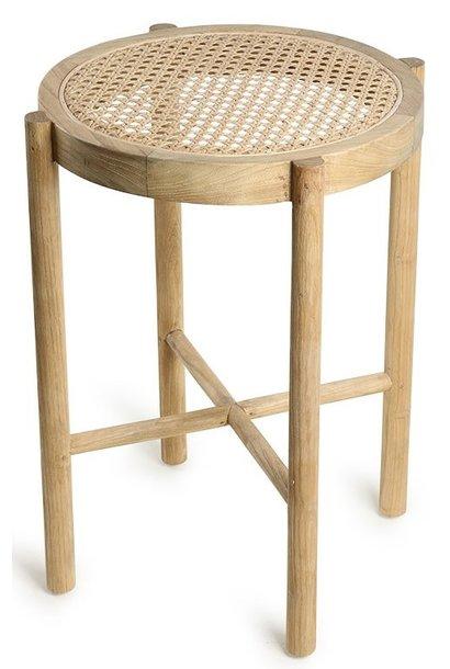 Kruk retro webbing stool naturel