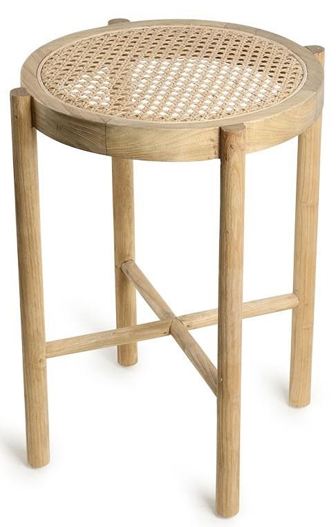 Kruk retro webbing stool naturel-1
