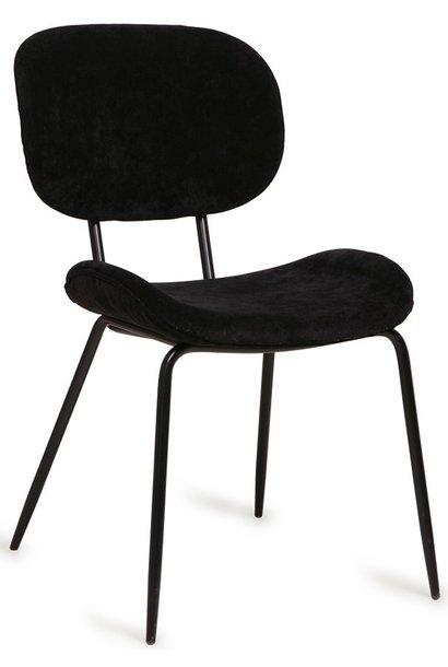 Stoel dining chair rib black