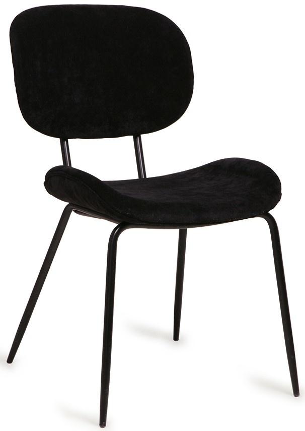 Stoel dining chair rib black-1