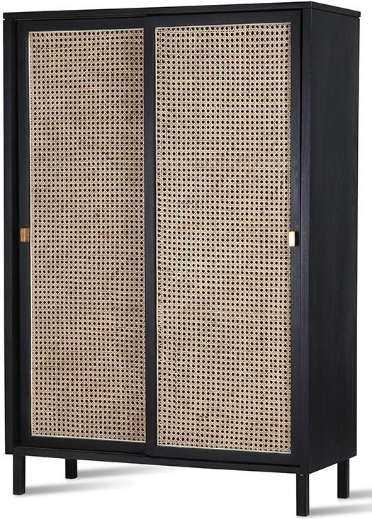 Kast webbing sliding door cabinet black-4