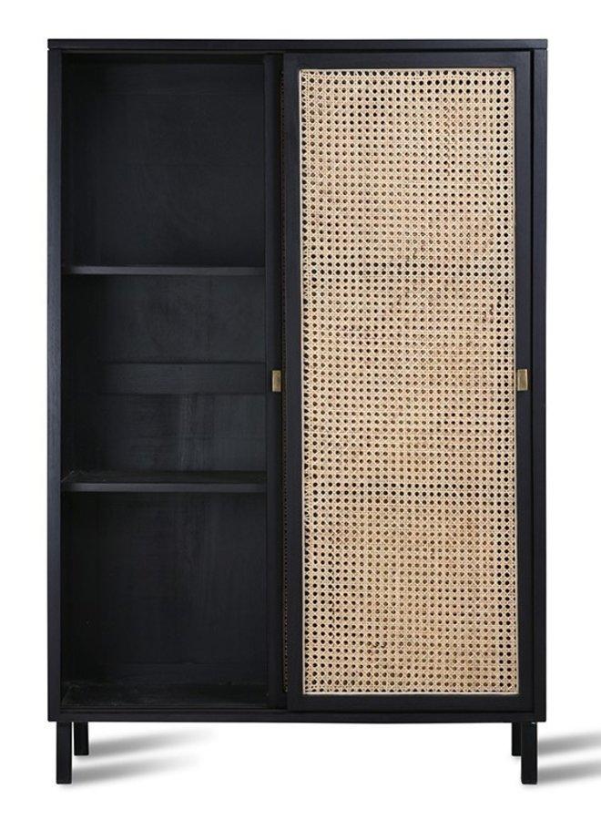 Kabinetkast webbing sliding door cabinet black