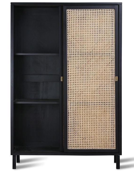Kast webbing sliding door cabinet black-3
