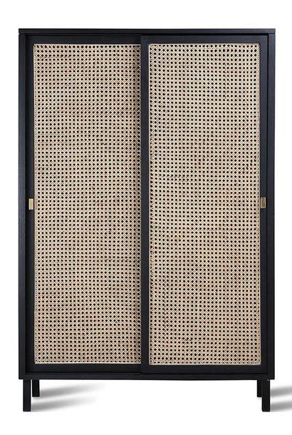 Kast webbing sliding door cabinet black