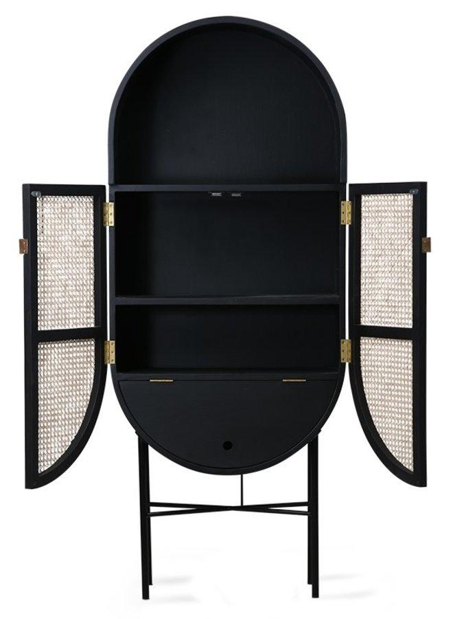 Kabinet retro webbing retro oval cabinet black