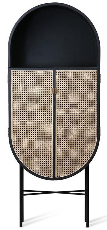 Kast retro webbing retro oval cabinet black-1