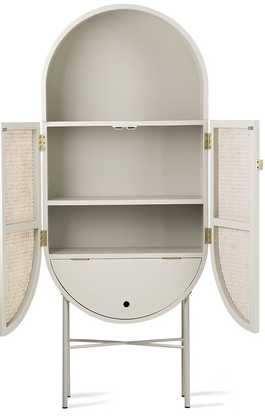 Kast retro webbing retro oval cabinet light grey-2