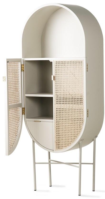 Kast retro webbing retro oval cabinet light grey-3