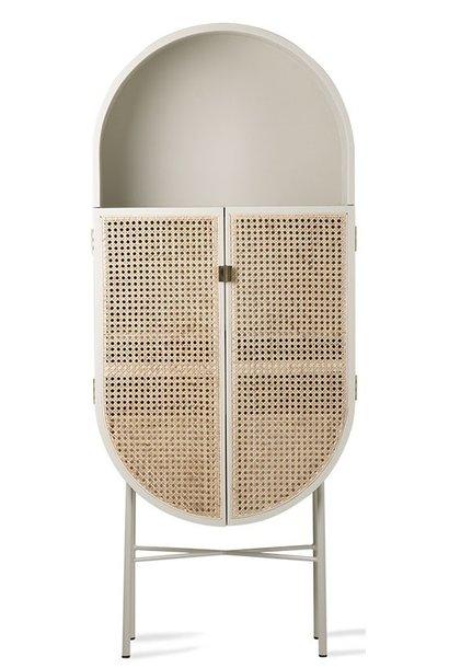 Kast retro webbing retro oval cabinet light grey