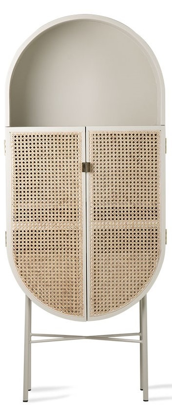 Kast retro webbing retro oval cabinet light grey-1