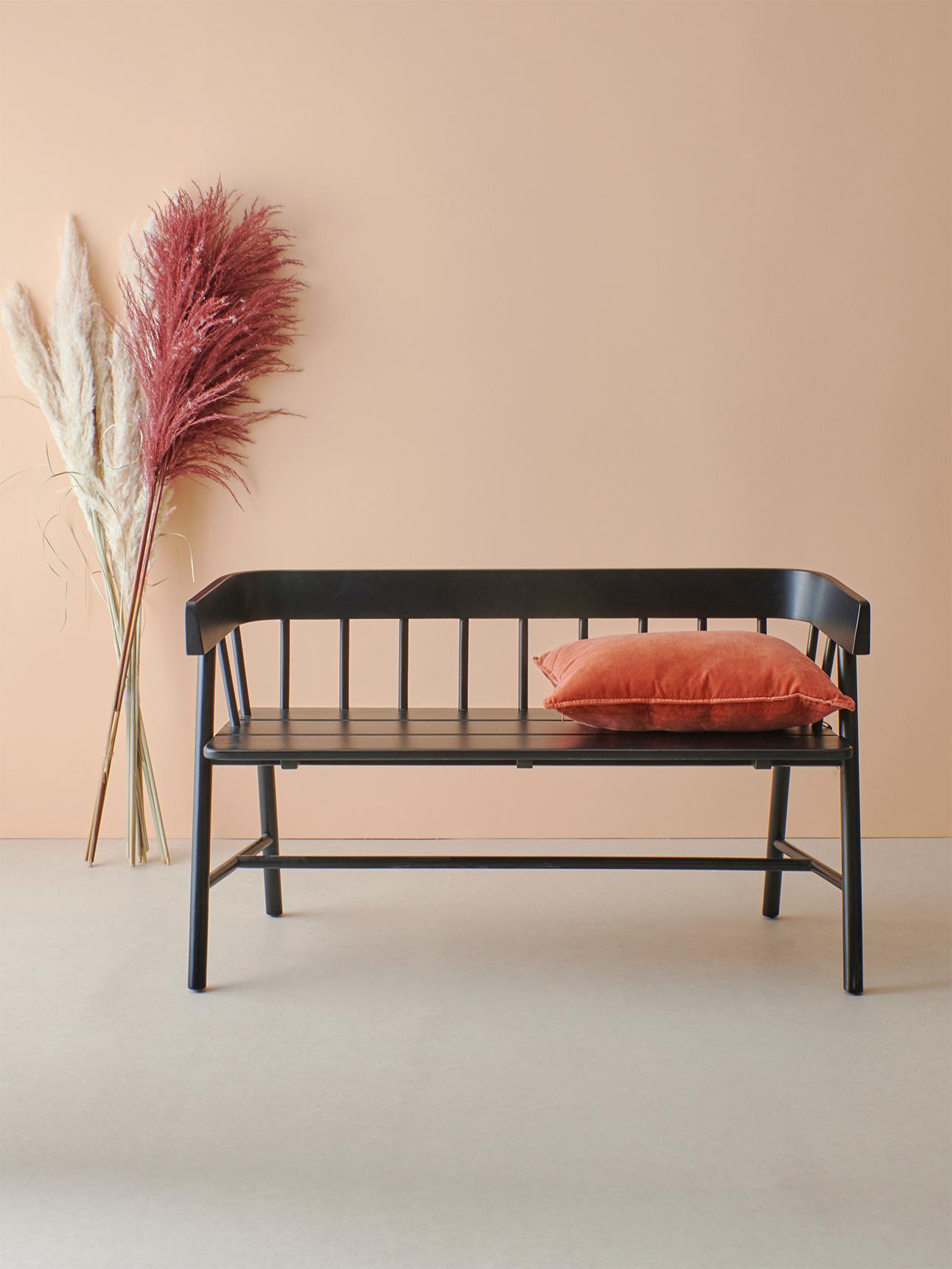 Bank garden bench black-2